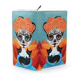 Ashley M Bags - Frida Kahlo Artist Wallet Womens Day of the Dead